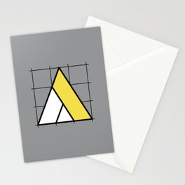A // Perfectionist Alphabet (Pantone Ultimate Gray + Illuminating) Stationery Cards