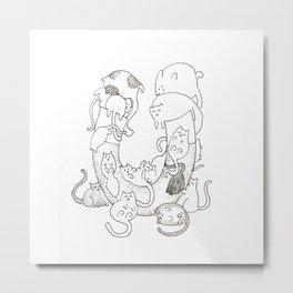 Pussy Magnet (No Color) Metal Print
