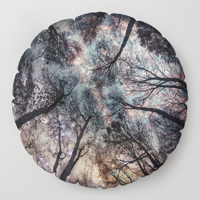 Starry Sky in the Forest Floor Pillow