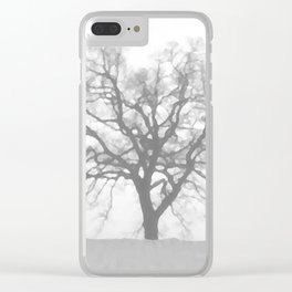 Grey Winter Clear iPhone Case