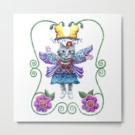 Angel Kitty Metal Print