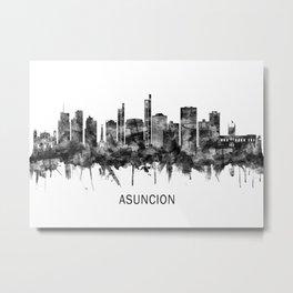 Asuncion Paraguay Skyline BW Metal Print