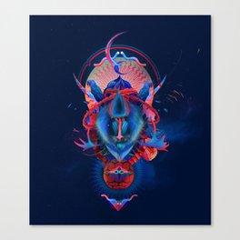 Blue gibbon Canvas Print