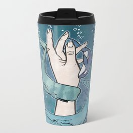 Poseidon's Whales Metal Travel Mug