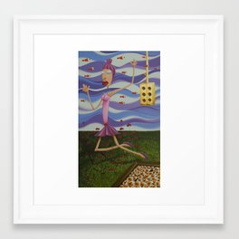 Floating Dancer Framed Art Print