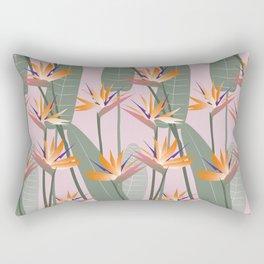 Bird of Paradise - pink Rectangular Pillow