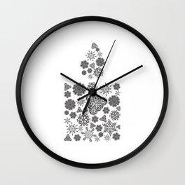 Snowflake candle Wall Clock