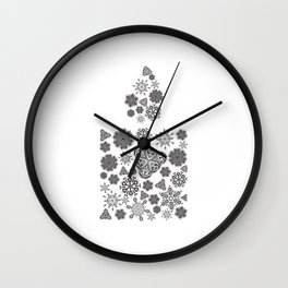 Snowflake candle Wall Clock