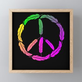 Feather Feather Jewelry - Peace From Feathers Framed Mini Art Print