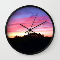 wisconsin Wall Clocks featuring Wisconsin Sunset by Ron Trickett
