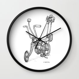 Cartoon Retro Mod Stingray 8-Track Muscle Bike Bicycle Stingray Wall Clock