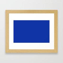 color Egyptian blue Framed Art Print