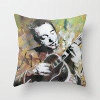 django Throw Pillows featuring Django by MATEO
