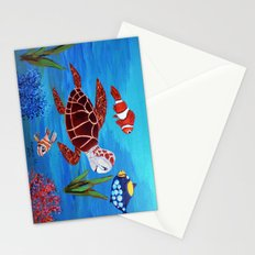 Swimming in the sea  Stationery Cards