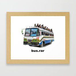 bus dot rar Framed Art Print