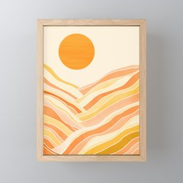 Golden Mountain Sunset Framed Mini Art Print
