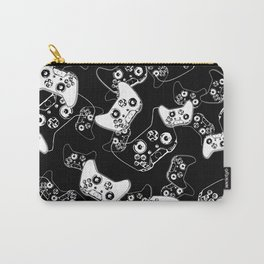 Video Game White on Black Carry-All Pouch