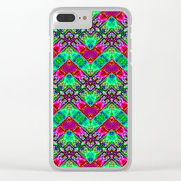 Stitched Vibrant Zigzags Clear iPhone Case