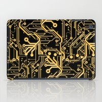 techno iPad Cases featuring Techno Organic  by Leigh Wortley