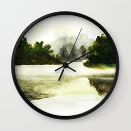 Silence, landscape painting Wall Clock