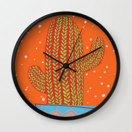 warm cactus Wall Clock