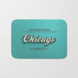 Vintage Chicago Bath Mat