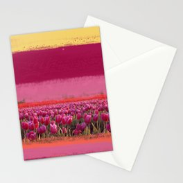 field of tulips Stationery Cards