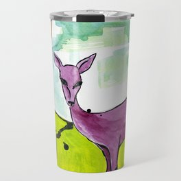 Deer with Sunflowers Travel Mug