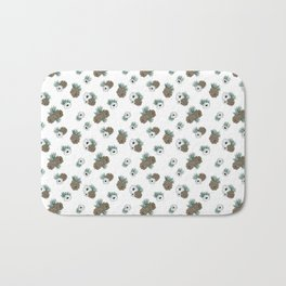 Holiday Pinecones and Anemones Bath Mat