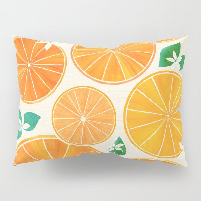 Orange Slices With Blossoms Pillow Sham