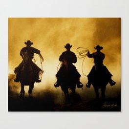 Three Cowboys Western Canvas Print