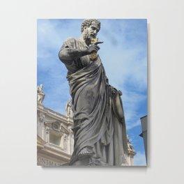 Roman Statue, who are you Metal Print