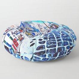 Mykonos Market Street Floor Pillow