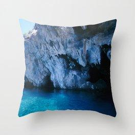 NATURE'S WONDER #5 - BLUE GROTTO (Turkey) #2 #art #society6 Throw Pillow