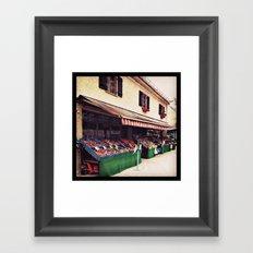 Obststandl - fruits and vegetables Framed Art Print