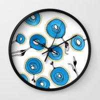 classy Wall Clocks featuring Classy by Gosia&Helena