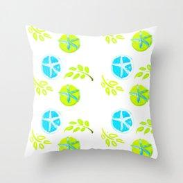 Aqua Stars Throw Pillow