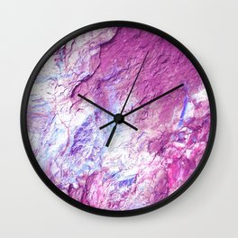 Rocky Texture Pink Purple Blue Wall Clock