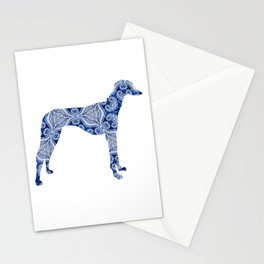 Paisley Dog No. 3 in Blue | Extra Large Stationery Cards