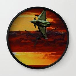 Typhoon at Sunset Wall Clock