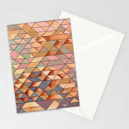 Triangles Circles Golden Sun Stationery Cards