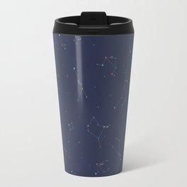 Zodiac Constellations Pattern Travel Mug