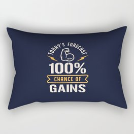 Today's Forecast 100% Chance Of Gains Rectangular Pillow