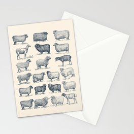 Types of Sheep Stationery Cards