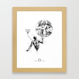 Playing irrational cards in the creation of some kind of new Mystical Symbols. Framed Art Print