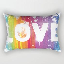 For Love - White Background Rectangular Pillow
