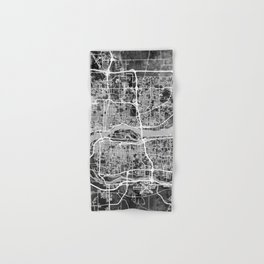 Quad Cities Street Map Hand & Bath Towel