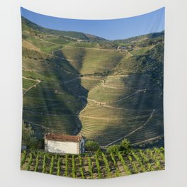A chapel among vineyards Wall Tapestry