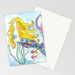 The Blonde Mermaid Stationery Cards