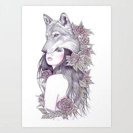 Heart Of A Wolf Art Print
